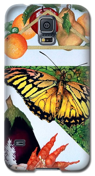 Galaxy S5 Case featuring the painting Still Life With Moth #1 by Thomas Gronowski
