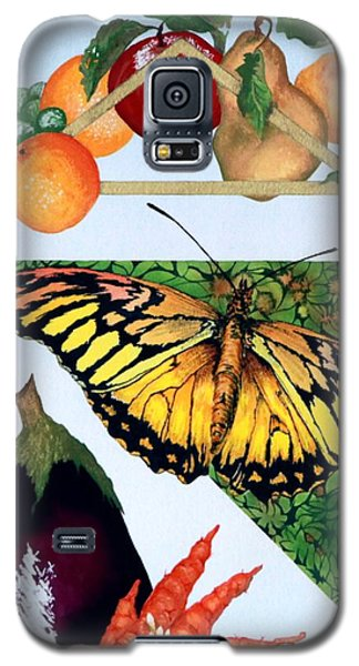 Still Life With Moth #1 Galaxy S5 Case by Thomas Gronowski