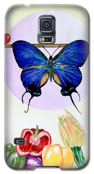 Galaxy S5 Case featuring the painting Still Life With Moth #2 by Thomas Gronowski