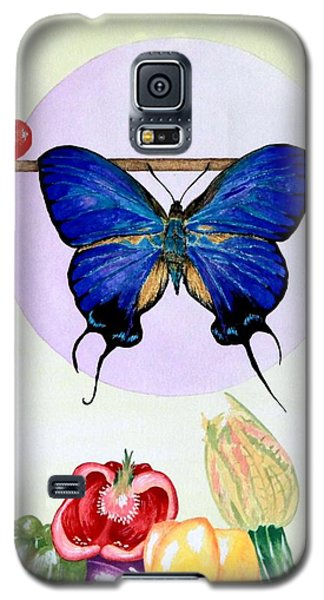 Still Life With Moth #2 Galaxy S5 Case by Thomas Gronowski