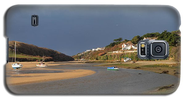 Galaxy S5 Case featuring the photograph Storm Approaches The Gannel Estuary Newquay Cornwall by Nicholas Burningham