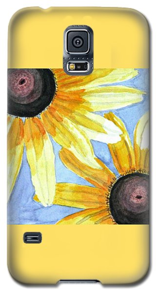 Galaxy S5 Case featuring the painting Summer Susans by Angela Davies