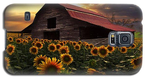 Sunflower Farm Galaxy S5 Case by Debra and Dave Vanderlaan