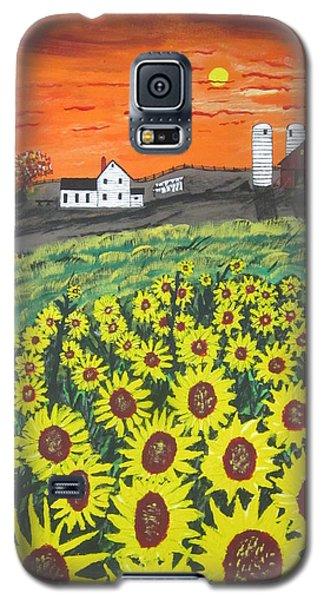 Sunflower Valley Farm Galaxy S5 Case by Jeffrey Koss