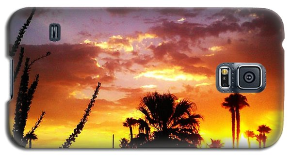 Galaxy S5 Case featuring the photograph Sunrise In Palm Springs by Chris Tarpening