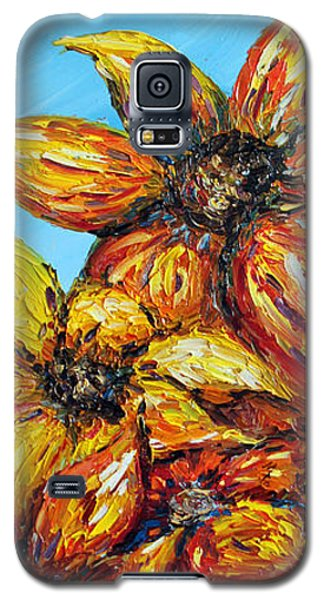 Galaxy S5 Case featuring the painting Sunrise by Meaghan Troup