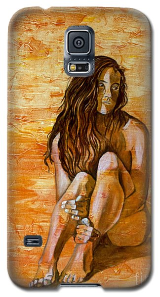 Galaxy S5 Case featuring the painting Sunset by Denise Deiloh