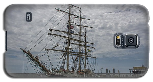 Galaxy S5 Case featuring the photograph Tall Ship Gunilla by Dale Powell