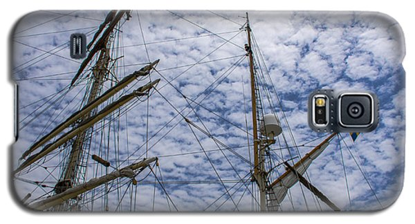 Galaxy S5 Case featuring the photograph Tall Ship Mast by Dale Powell