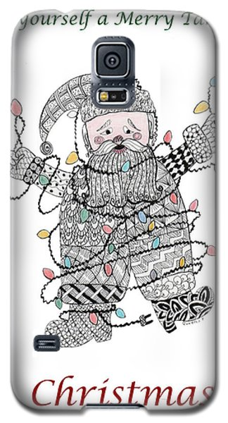 Tangled Santa Galaxy S5 Case by Quwatha Valentine