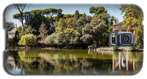 Temple Of Aesculapius And Lake In The Villa Borghese Gardens In  Galaxy S5 Case