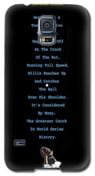 Baseball Gloves Galaxy S5 Case - The Catch by Ron Regalado