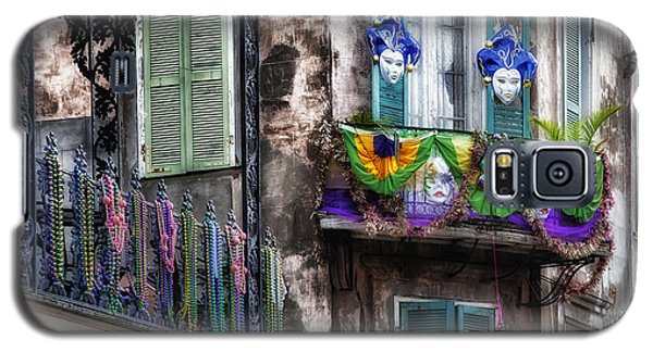 The French Quarter During Mardi Gras Galaxy S5 Case by Mountain Dreams