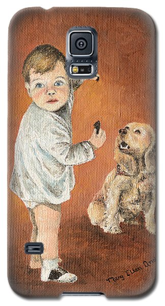 Galaxy S5 Case featuring the painting The Guilty Ones by Mary Ellen Anderson