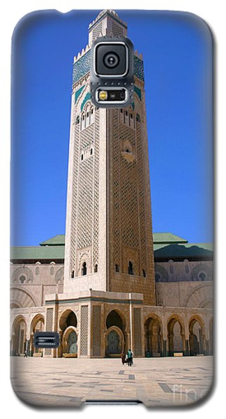 Galaxy S5 Case featuring the photograph The Hassan II Mosque Grand Mosque With The Worlds Tallest 210m Minaret Sour Jdid Casablanca Morocco by Ralph A  Ledergerber-Photography
