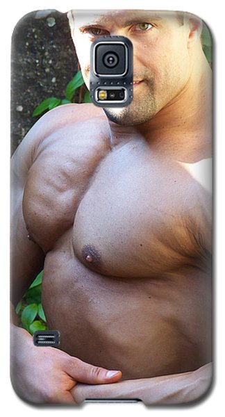 Galaxy S5 Case featuring the photograph The Muscle Poser by Jake Hartz