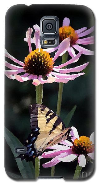 Galaxy S5 Case featuring the photograph Tiger Swallowtail by Yumi Johnson