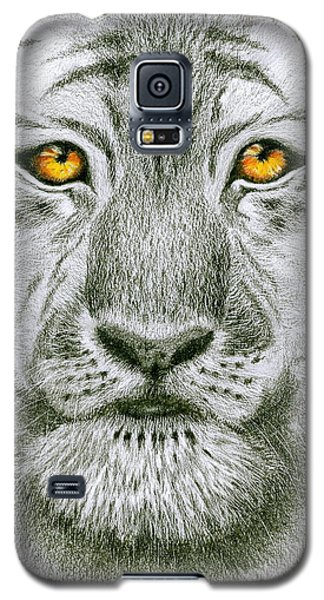 Galaxy S5 Case featuring the painting Tiger Tiger Burning Bright by Jo Appleby