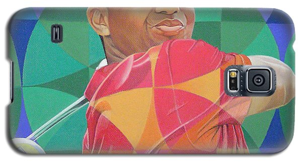 Galaxy S5 Case featuring the drawing Tiger Woods by Joshua Morton