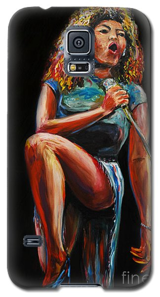 Galaxy S5 Case featuring the painting Tina Turner by Nancy Bradley