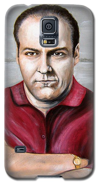 Galaxy S5 Case featuring the painting Tony Soprano by Patrice Torrillo