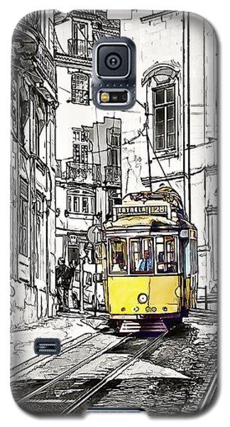 Lisbon Tram 28 Galaxy S5 Case by Marion McCristall
