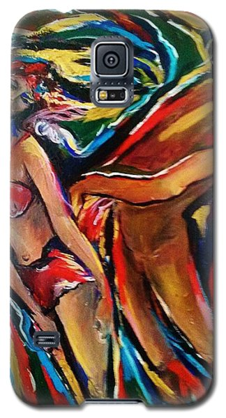Galaxy S5 Case featuring the painting Trance by Dawn Fisher