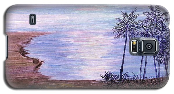 Galaxy S5 Case featuring the painting Tropical Paradise by Artists With Autism Inc