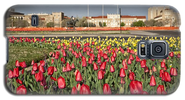 Tulips At Texas Tech University Galaxy S5 Case by Melany Sarafis