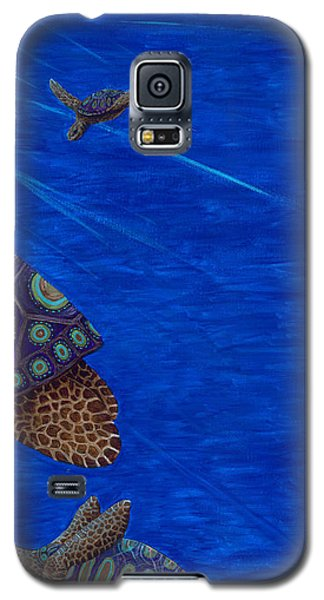 Turtle Painting Bomber Triptych 3 Galaxy S5 Case