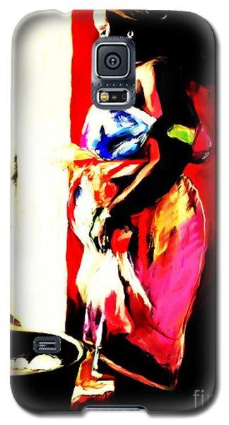Galaxy S5 Case featuring the painting Ugunda Fish Lady by Vannetta Ferguson