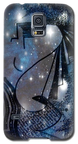 Galaxy S5 Case featuring the mixed media Universal Feminine by Leanne Seymour