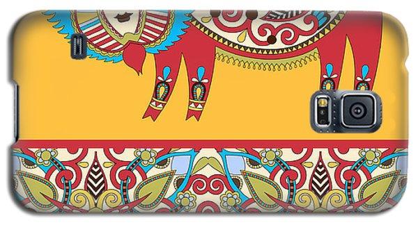 Dragon Galaxy S5 Case - Unusual Ukrainian Traditional Tribal by Karakotsya