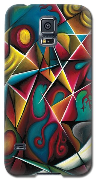 Galaxy S5 Case featuring the painting Upwards Through The Brambles by Tiffany Davis-Rustam