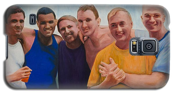 Galaxy S5 Case featuring the painting Us Guys by Ron Richard Baviello