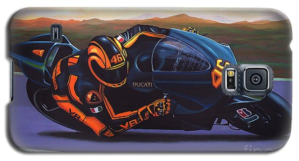 Motorcycle Galaxy S5 Case - Valentino Rossi On Ducati by Paul Meijering