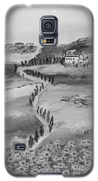 Galaxy S5 Case featuring the painting Verde Sentiero by Loredana Messina