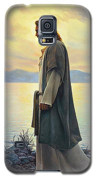 Galaxy S5 Case featuring the painting Walk With Me  by Greg Olsen