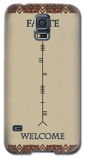 Welcome Written In Ogham Galaxy S5 Case