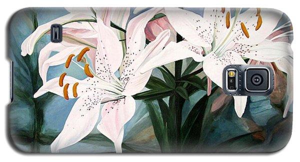 White Lilies Galaxy S5 Case