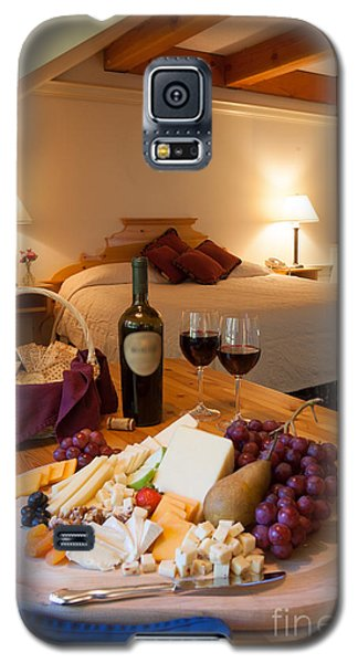 Wine And Cheese In A Luxurious Hotel Room. Galaxy S5 Case