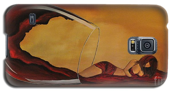 Wine-spilled Woman Galaxy S5 Case