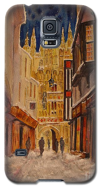 Galaxy S5 Case featuring the painting Winter In Canterbury by Beatrice Cloake