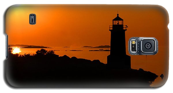 Winter Island Lighthouse Sunrise Galaxy S5 Case