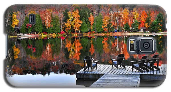 Wooden Dock On Autumn Lake Galaxy S5 Case