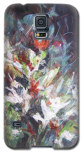 Galaxy S5 Case featuring the painting Woodland Bouquet by Mary Lynne Powers