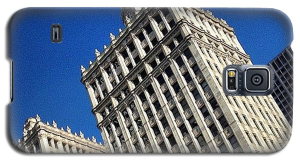 Patriotic Galaxy S5 Case - Wrigley Building- Chicago by Mike Maher
