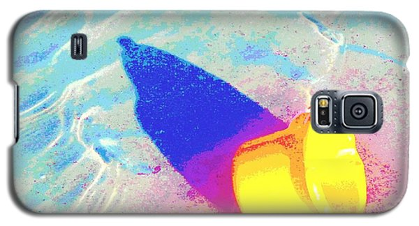 Galaxy S5 Case featuring the digital art Yellow Pail by Valerie Reeves