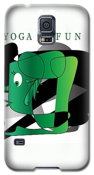 Galaxy S5 Case featuring the digital art Yoga by Iris Gelbart