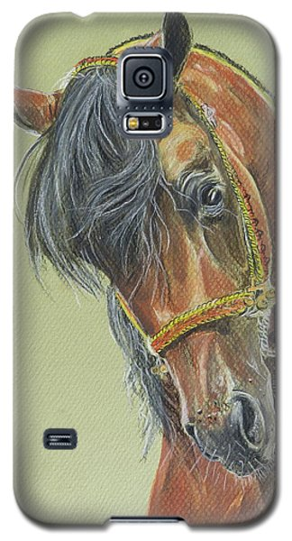 Galaxy S5 Case featuring the painting Zimark by Janina  Suuronen